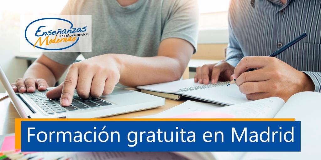 cursos gratuitos en Madrid